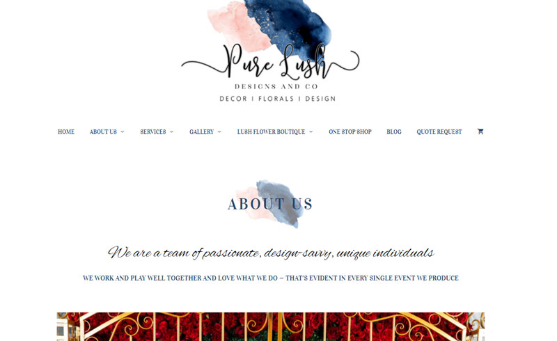 Projects - Pure Lush Designs Wedding Services About Page