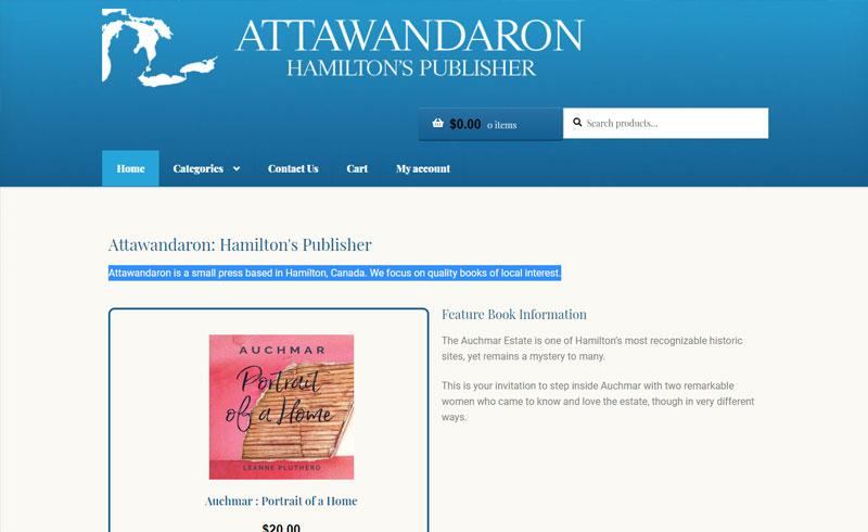 WordPress Development Project - Attawandaron Hamilton's PUblisher