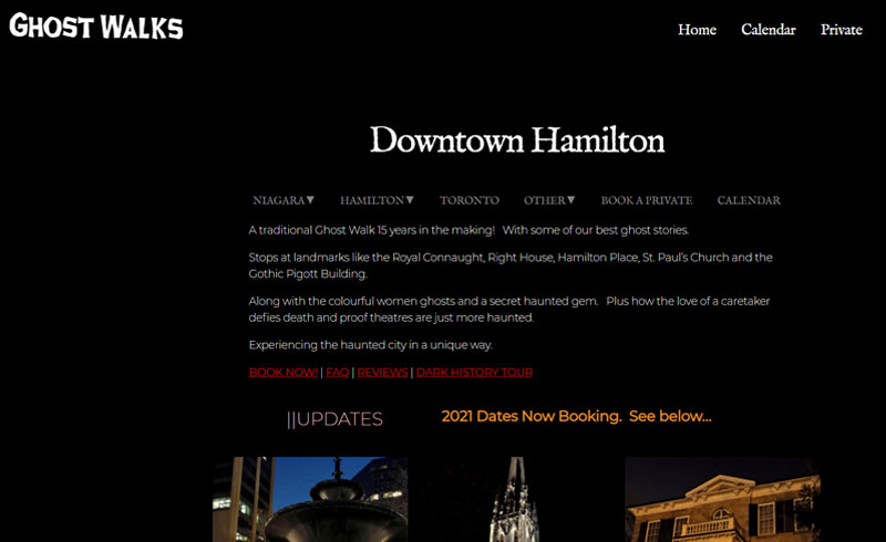 Ghost Walks Tours - Spooky tours in Hamilton and Niagara-on-the-Lake