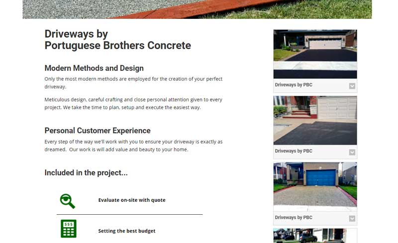 Driveways by Portuguese Brothers Concrete